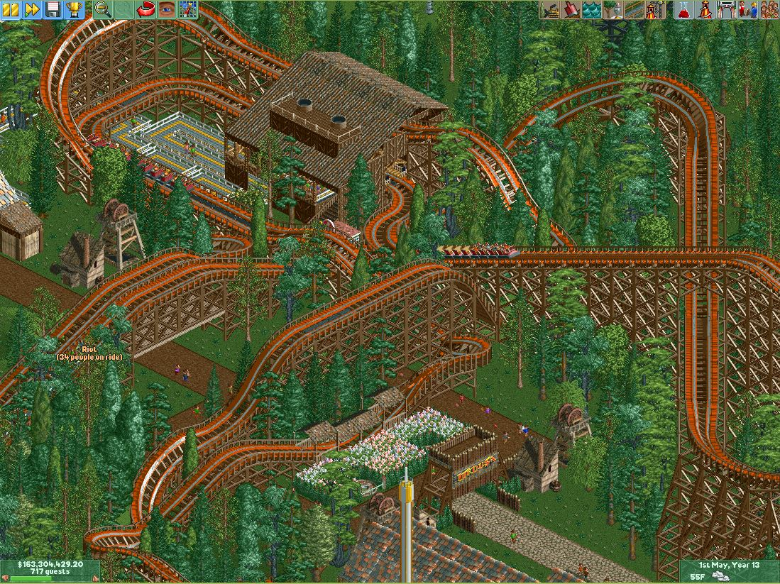 IonZer0 - RCT2 RMC Coaster 'Riot' - Quick Pics - SSCoasters Quick